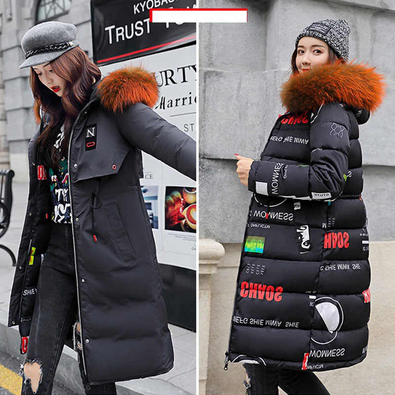 7d030b2017 Long Cotton Coat Women s Winter 2019 NewDouble-sided Slim Hooded Korean Down  Cotton Jacket Thick