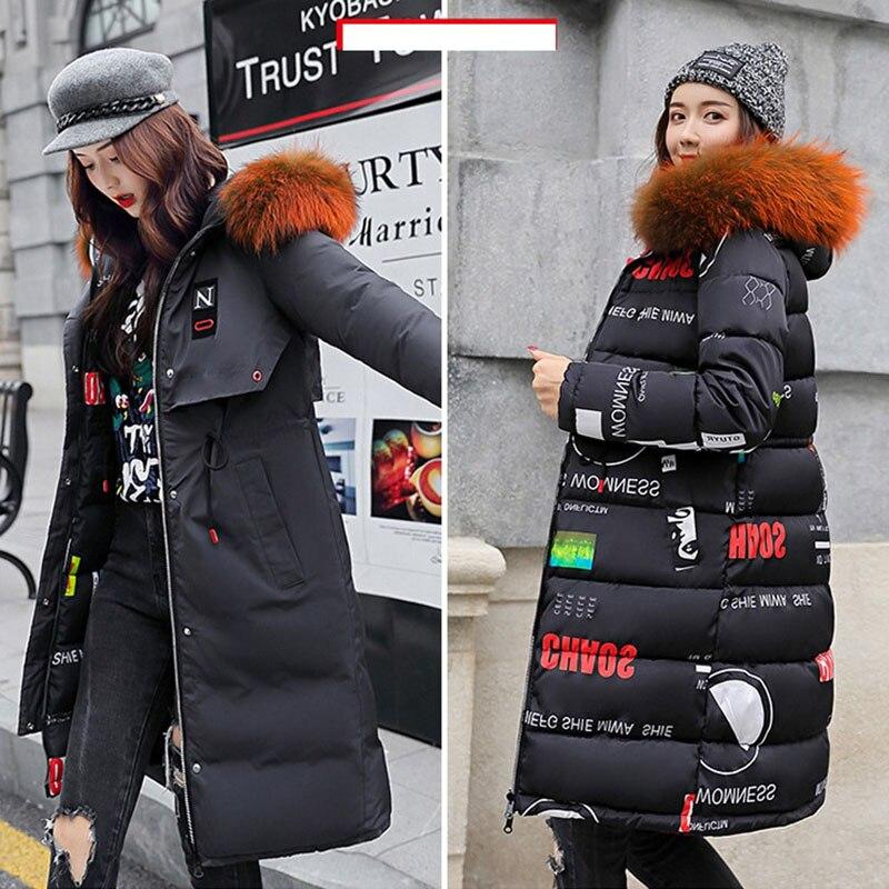 7448da1f2 Abrigo largo de algodón para mujer invierno 2019 NewDouble sided Slim con  capucha coreana abajo Chaqueta de algodón gruesa hermosa Parkas resistentes  al ...