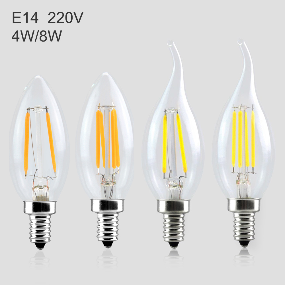 Cheap Ampoule led Dimmable E27 A60 led filament bulb C35 ST64 16W 360 Degree Retro lighting Lamps Chandeliers Bombillas lamba