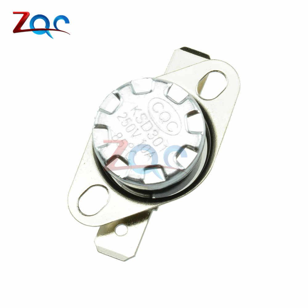 KSD301 250 فولت 10A عادة فتح/عادة إغلاق NO/OFF ترموستات درجة الحرارة الحرارية التحكم التبديل ديج 30 40-130مئوية درجة