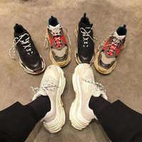 Women Shoes 2019 Hot Chunky Sneakers Women Fashion Vulcanize Shoes White Sneakers Basket Femme Dad Shoes Casual Women Krasovki