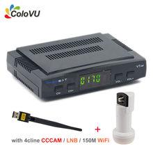 Receptor Digital de Satélite Freesat V7 HD DVB-S/S2 FTA Decodificador con 4 cLine IKS CCCAM + LNB Universal + USB WiFi de la ayuda