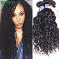 Malaysian Virgin Hair Water Wave 4 Bundles Virgo Hair Products Mink 8A Best Natural Black Wet And Wavy Malaysian Water Wave Hair