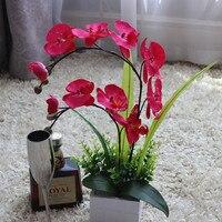 Yapay orkide, Taklit çiçekler vazo seti ile, Ipek orkide, Düzenleme, Yemek masası dekor, Ürün kodu 0426