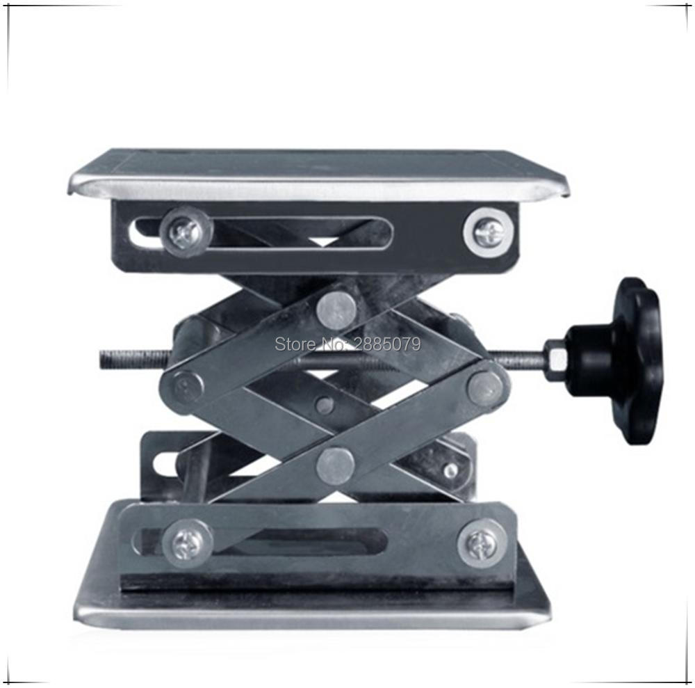 Lifting Platform Adjustable Laboratory Lift Stainless Steel Lab Stand Table Scissor Lifter Mini Hand Elevator(China)