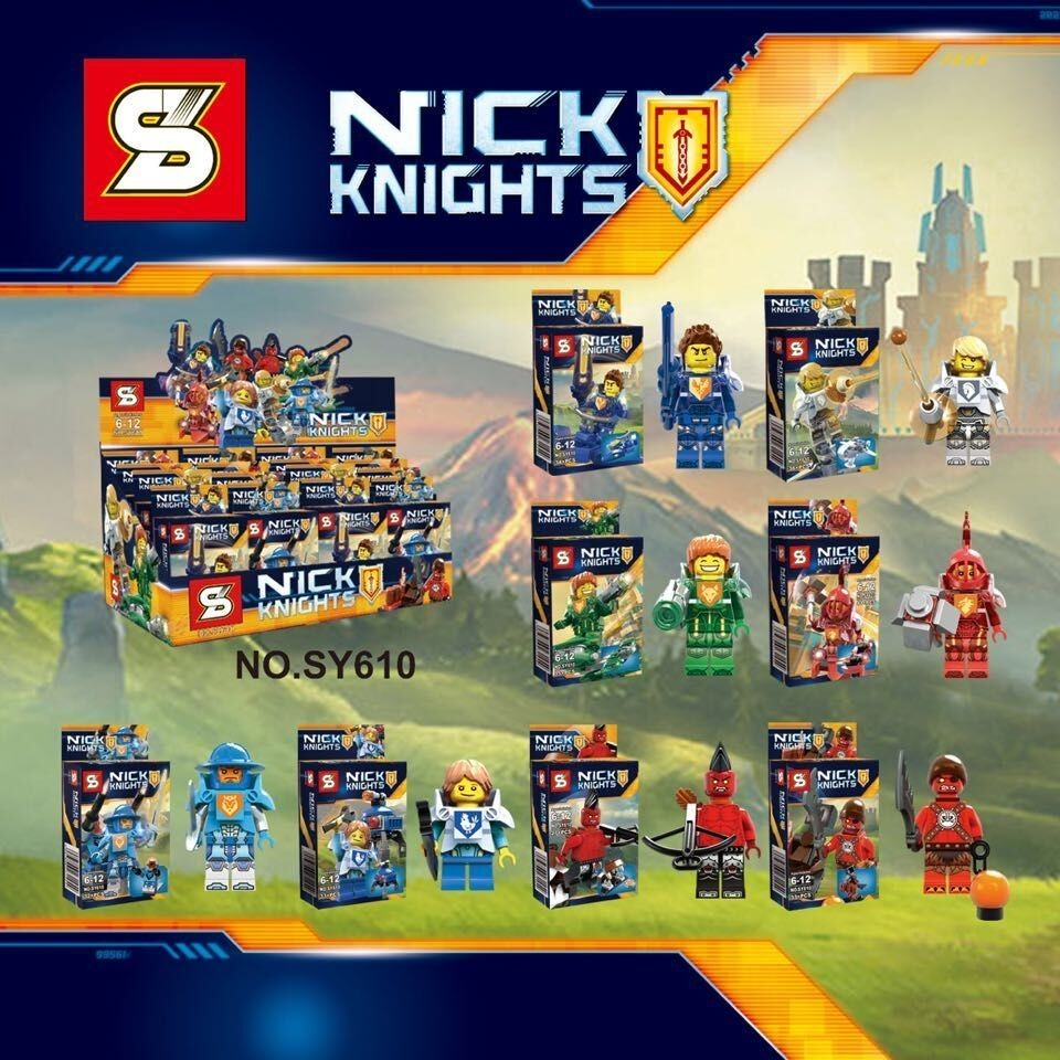 SY610 Nexo Knights Future Knight Castle Warrior 8Piece/lot Building Block Figures Toys Kid Toys For Gift Compatible With Legoe lepin 03029 6pcs lot super heroes nexus knights future knight castle warrior building block figures bricks kid toy gift