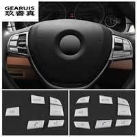 Car Styling Steering Wheel Button Cover Trim  Sticker For BMW 1/2/3/4/5/7 series X1 X3 X5 F10 F20 F30 F34 F25 E70 Accessories