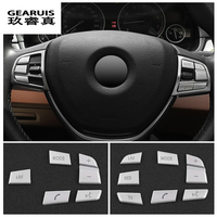 Car Styling Steering Wheel Button Cover Trim Sticker For BMW 1 2 3 4 5 7