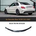 Lèvre de coffre arrière en Fiber de carbone aileron aile de coffre adapté pour mercedes benz W205 C200 C250 C300 C63 AMG berline 4 portes 2014 2019|Ailerons de voiture| |  -