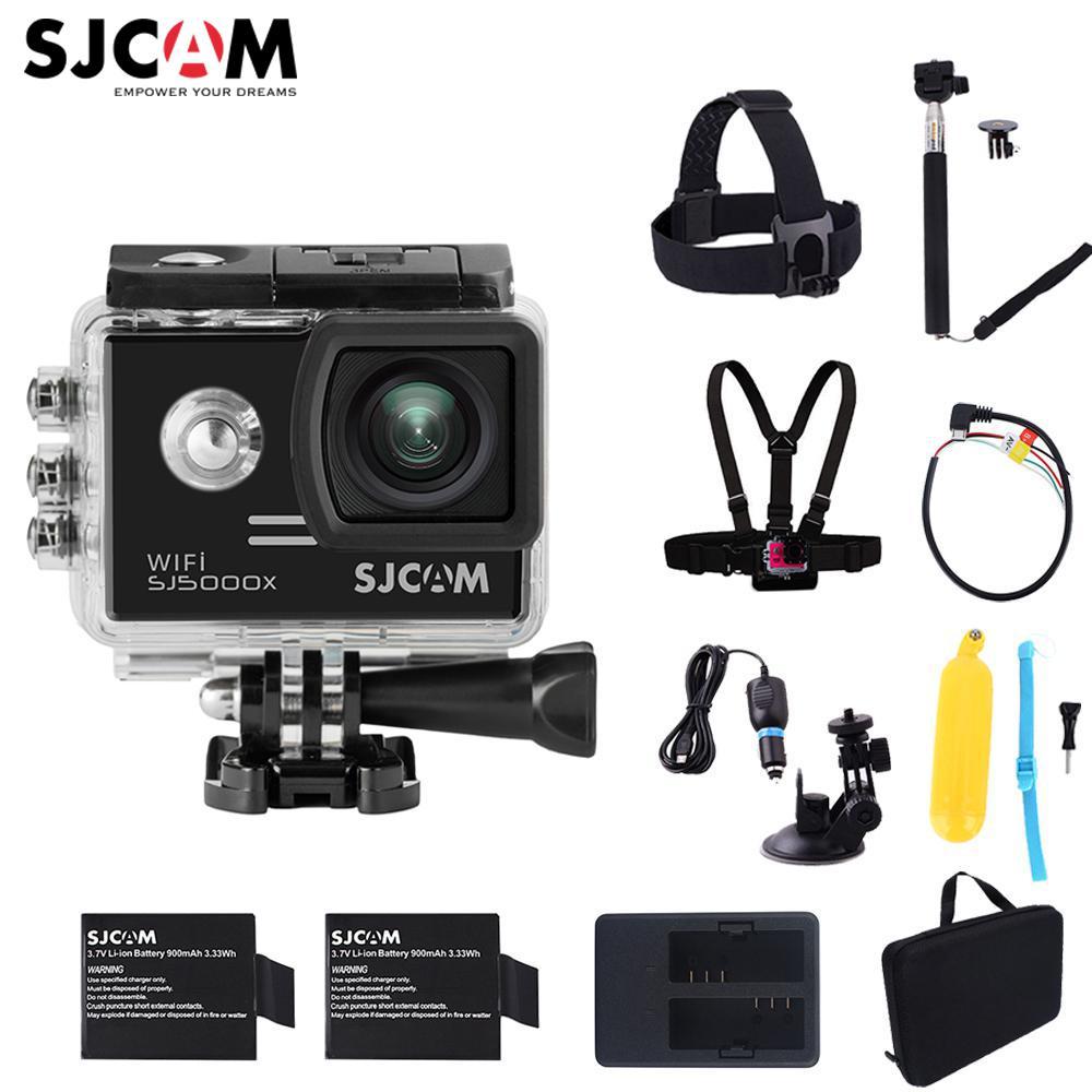 2.0 écran 4 K D'origine SJCAM SJ5000X Elite WiFi NTK96660 30 M Étanche Action Sports Caméra De Voiture Mini DVR avec De Nombreux Options