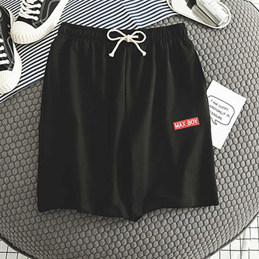 Короткие повседневные мужские шорты летние резинка на талии большой размеры брюки карго хлопок шорты для женщин для мужчин мужской Свободные японский уличная Бермуды