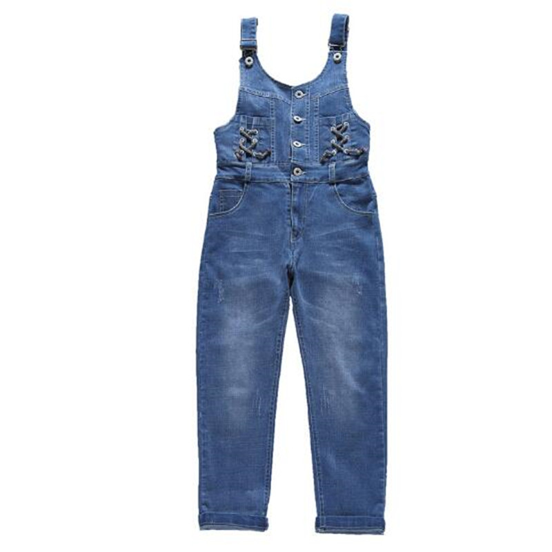 47b8c8e88d3 2018 New Fashion Spring Autumn Kids Jeans Pants Baby Girls Denim Children  Trousers Girl Toddler Overalls Cowboy 4 15T Teenages-in Overalls from  Mother ...