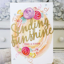 Sunshine Dies English Phrase Metal Cutting for DIY Scrapbooking Decorative Crafts Supplies Embossing Paper Cards New 2018