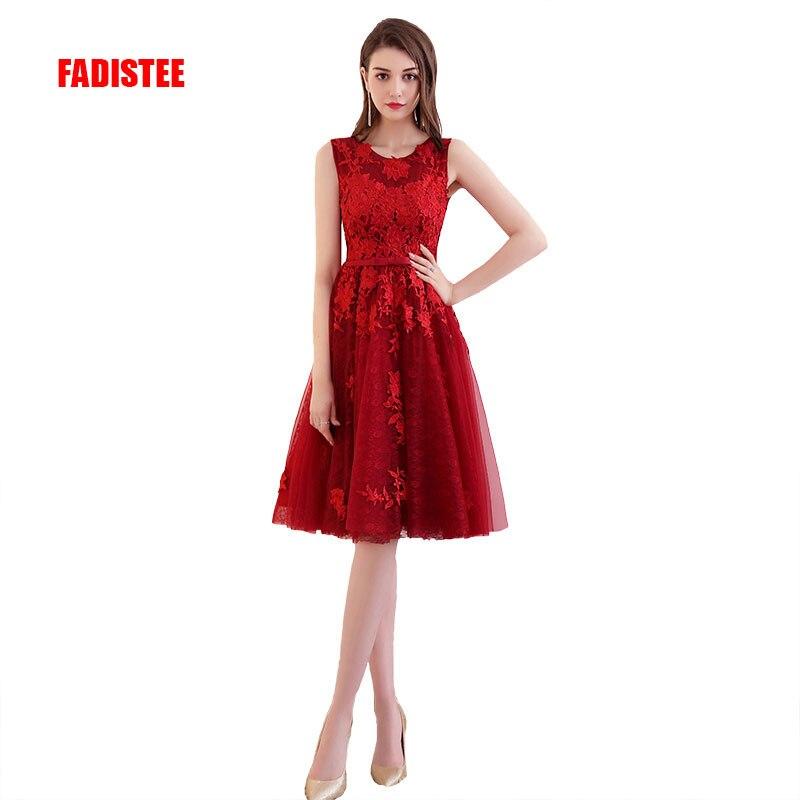 New arrival elegant Prom party Dresses Vestido de Festa A line appliques lace short sashes style