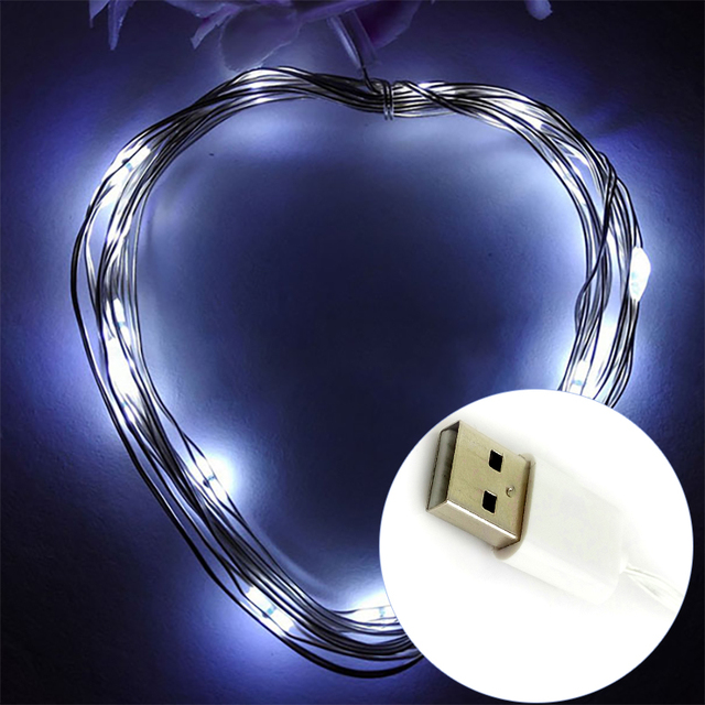 USB Power Copper Wire LED String Lights