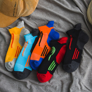 Image 5 - 2020 marca nova meias esportivas dos homens terry algodão tornozelo meia masculina moda colorida de alta qualidade meias homens skate venda quente