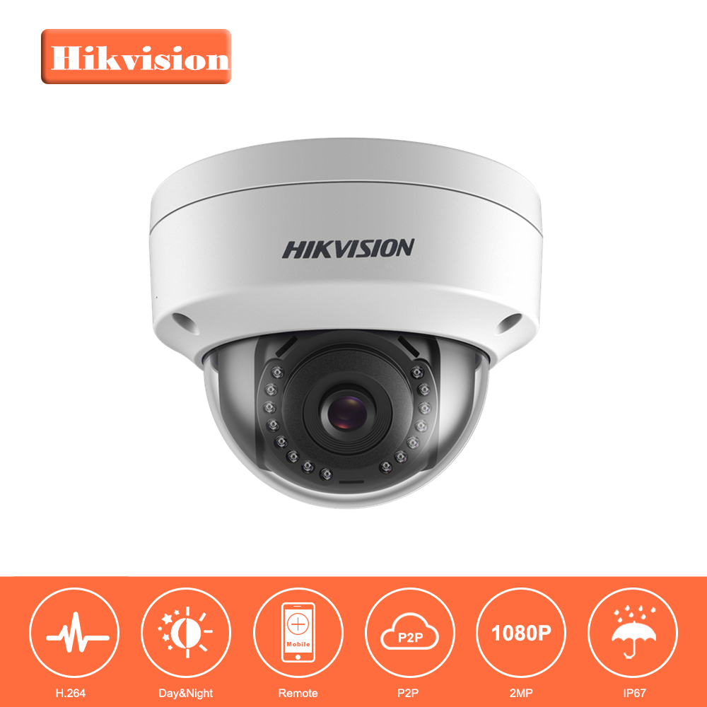 In Stock Hikvision 1080P Security IP Camera 2MP CMOS PoE IP Camera outdoor DS-2CD1121-I with DWDR IP 67 No SD card Slot original hikvision 1080p waterproof bullet ip camera ds 2cd1021 i camera 2 megapixel cmos cctv ip security camera poe outdoor