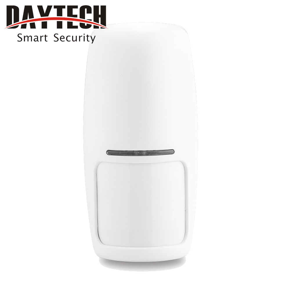 DAYTECH Wireless PIR Motion Detector Alarm Sensor 433MHz for All Home Security GSM Alarm System in our store 1 PCS wireless service call bell system popular in restaurant ce passed 433 92mhz full equipment watch pager 1 watch 7 call button