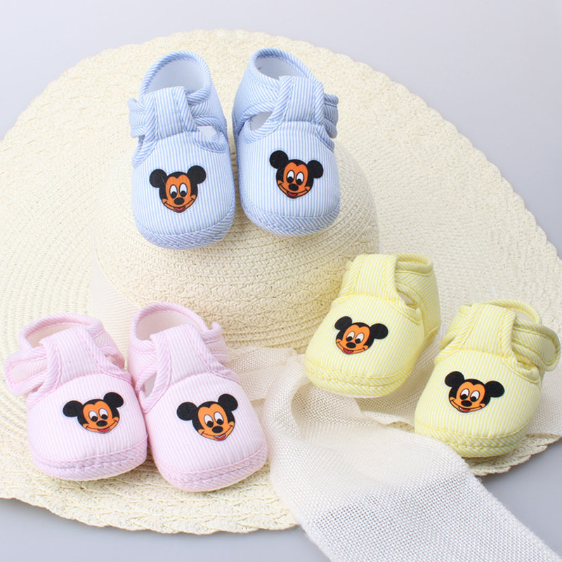 Animal printing Lovely 10cm 11cm Warm Baby Shoes Soft Bottom Non slip Bow Toddler shoes First