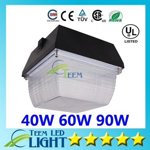 For Gas Station Lighting LED Canopy Lights 40W 60W 75W 90W 120W LED Flood Light Outdoor Lighting Flodlights AC 110-277V 666 5pcs lot 90w led retrofit gas station lamp 60w 50w industrial canopy light fixture 100w ceiling stall 110v 120v 220v 230v 277v