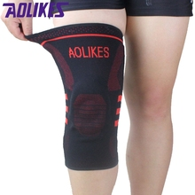 AOLIKES 1 Pcs Basketball Knee Brace Compression Knee Support Sleeve Protector Of Injury Recovery Volleyball Fitness Sport Safety