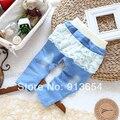 Nuevo 2014 del otoño del resorte niños pantalones ropa de niños pantalones vaqueros del bebé polainas de las muchachas pantalones casuales niños pantalones de mezclilla de encaje