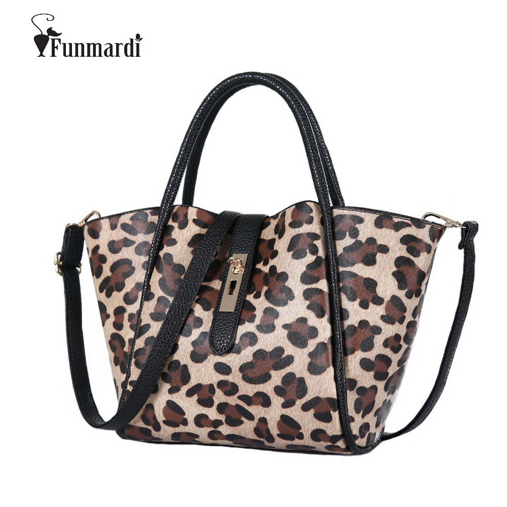 Hot sale Fashion trendy PU leather bags many colors simple Women Bags Leopard co
