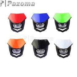 PAZOMA Motocross czarny Streetfighter reflektor reflektor motocyklowy dla YZ WR 250F 450F CRF FMX KX RMZ SXF 250 450