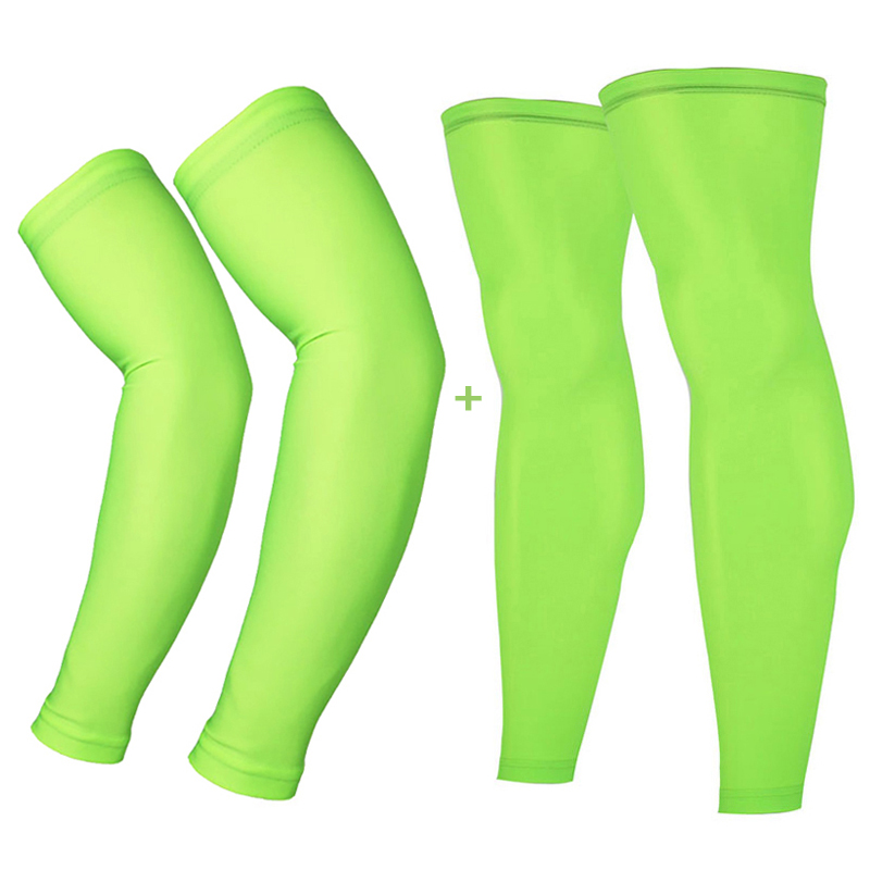 Cycling Legwarmers Sport Safety Running Legging Basketball Soccer Leg Warmers and Arm Sleeves Tights Sportswear Sets