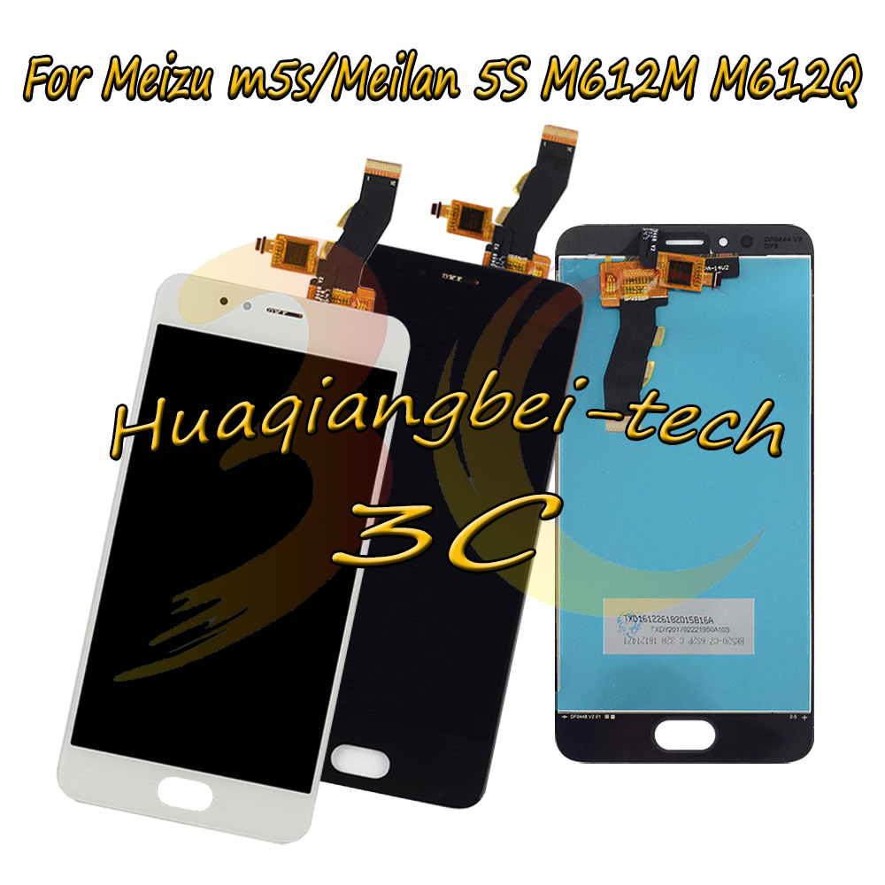 5.2 New Black / White For Meizu m5s / Meilan 5S M612M M612Q Full LCD DIsplay + Touch Screen Digitizer Assembly 100% Tested