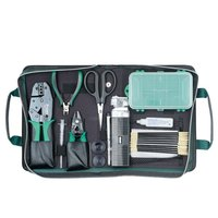 Free PP Newest ProsKit 1PK 940KN Tool Set 12 Pieces Fiber Optical Network Tool Set Wire stripper Toolbox Toolkit Hand Tools DIY