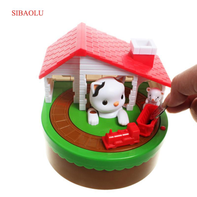 Cute CAT MOUSE BANK Coin Save Money Box Toy Banks Collecting Saving Money Bank Creative Gift Box Piggy Bank Kid Children Toy