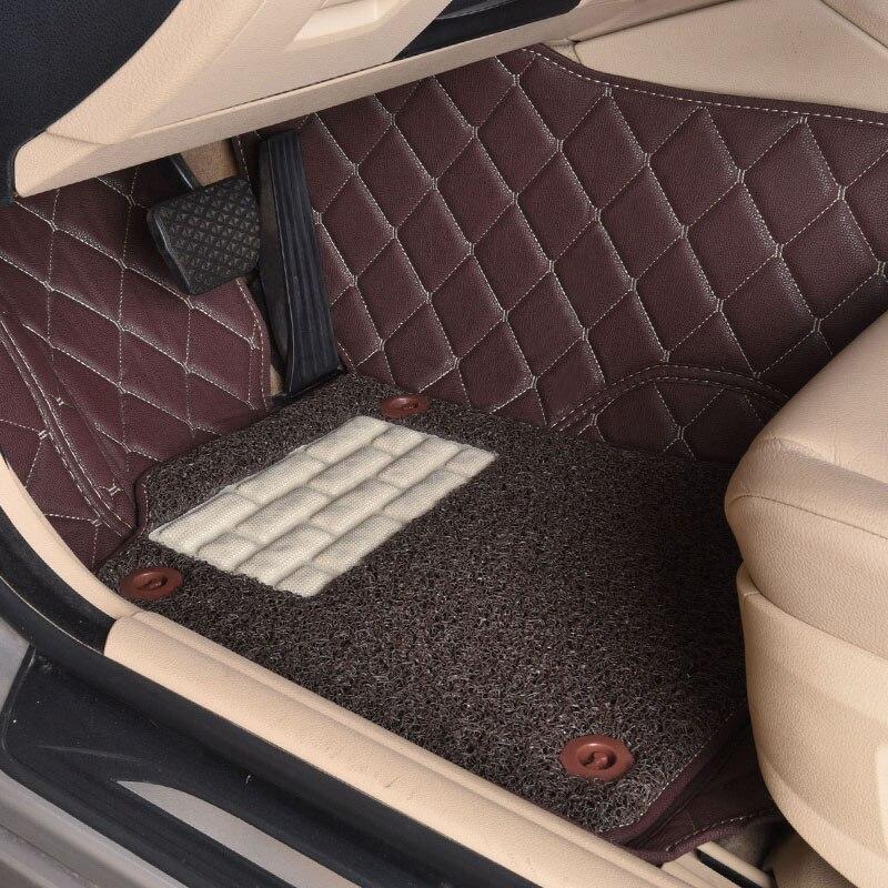 Custom car <font><b>floor</b></font> mats for <font><b>Ford</b></font> Edge <font><b>Escape</b></font> Kuga Fusion Mondeo Ecosport Focus Fiesta car styling carpet liner