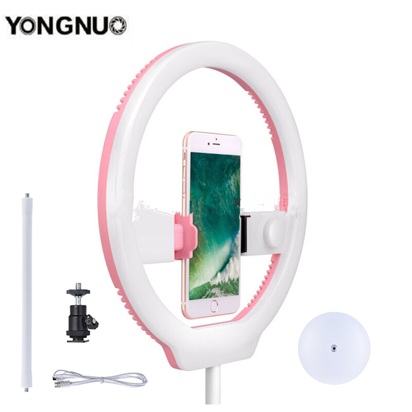 YONGNUO Ring Light 3200 5500K Pink Selfie Light Phone/Camera/Studio/Phone/Video 128 LED Lights Lamp for Iphone/Samsung/Xiaomi
