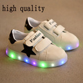 Cesta branca led crianças formadores light up shoes boy girl chinelos led luminosos de led crianças shoes chaussure enfant tênis