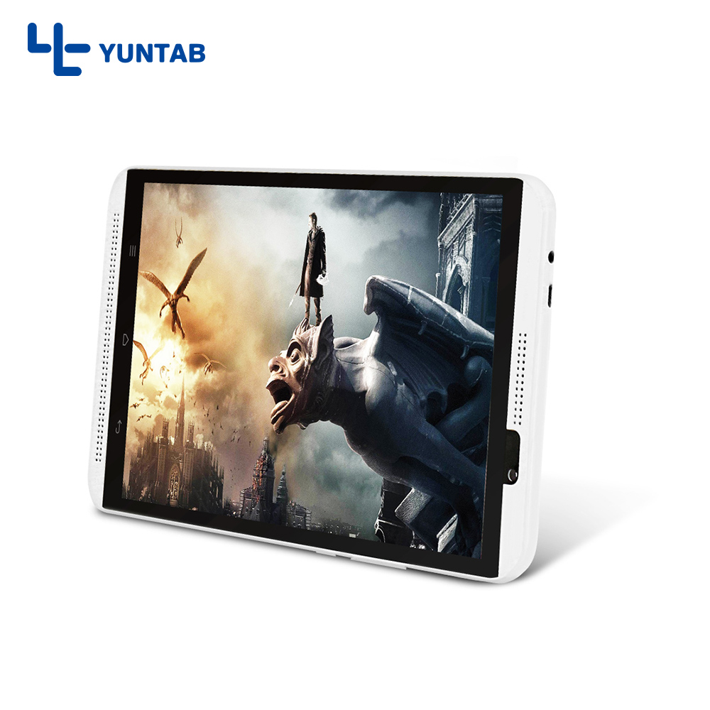 Hot sale!! Yuntab H8 Android6.0 Tablet PC Quad Core 4G Cellphone Touch Screen 800*1280 with dual camera 2MP+5MP (white)  yuntab k17 tablet pc android 5 1 unlocked smartphone webcam ips1280 800 with dual camera bluetooth4 0 silver alloy