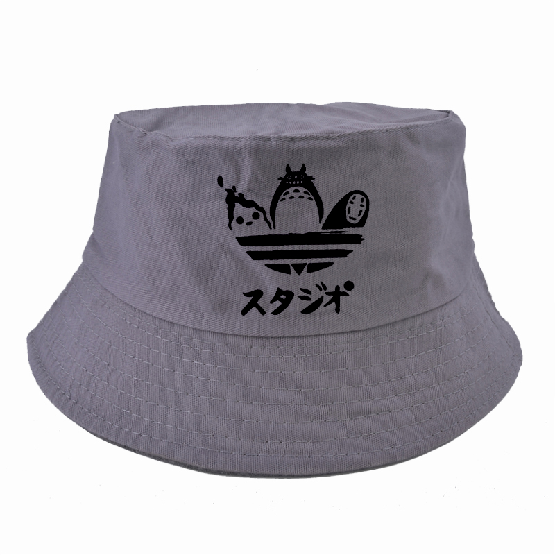 HTB15M4hXsfrK1Rjy0Fmq6xhEXXaD - Cartoon Totoro Spirited Away Bucket Hat Summer No Face Faceless cap Panama Cotton Double Layer Fabric Sunscreen Hats