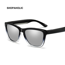 Brand Designer Square Polarized Sunglasses Men Retro Vintage