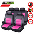 (Car-Pass)  New Style Cute Pink Pu Leather Universal Car Seat Covers Pink/Red/Blue Auto Car Seat Covers Fit For BMW Audi