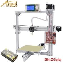 Anet a2 серебристого цвета автоматическое выравнивание 3d металл принтер 3d принтер комплект DIY Легко Соберите С Бесплатным 10 м Нити 8 ГБ SD карты ЖК-