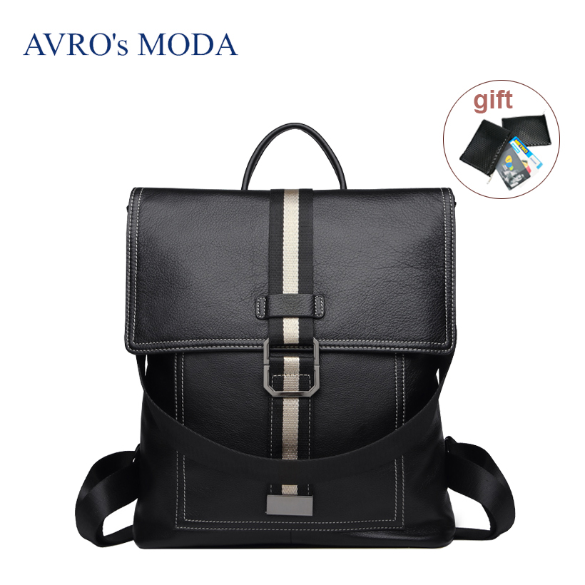 AVROs MODA Brand design genuine leather backpack for women female large capacity business laptop backpacks ladies school bagsAVROs MODA Brand design genuine leather backpack for women female large capacity business laptop backpacks ladies school bags