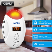 KERUI LED Digital Display CO Detector Voice Strobe Home Security Safety CO Gas Carbon Alarm Detector