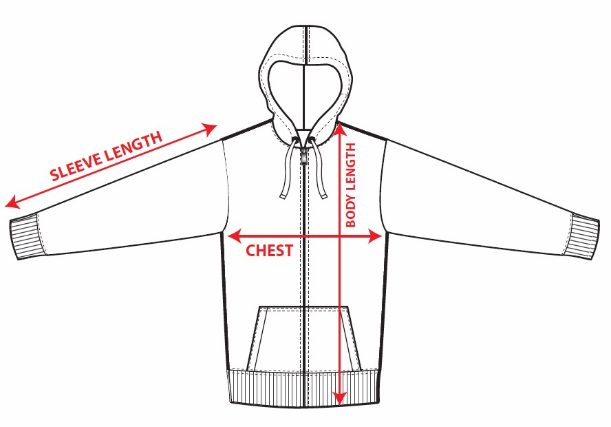 Hoodie-measurement-guide