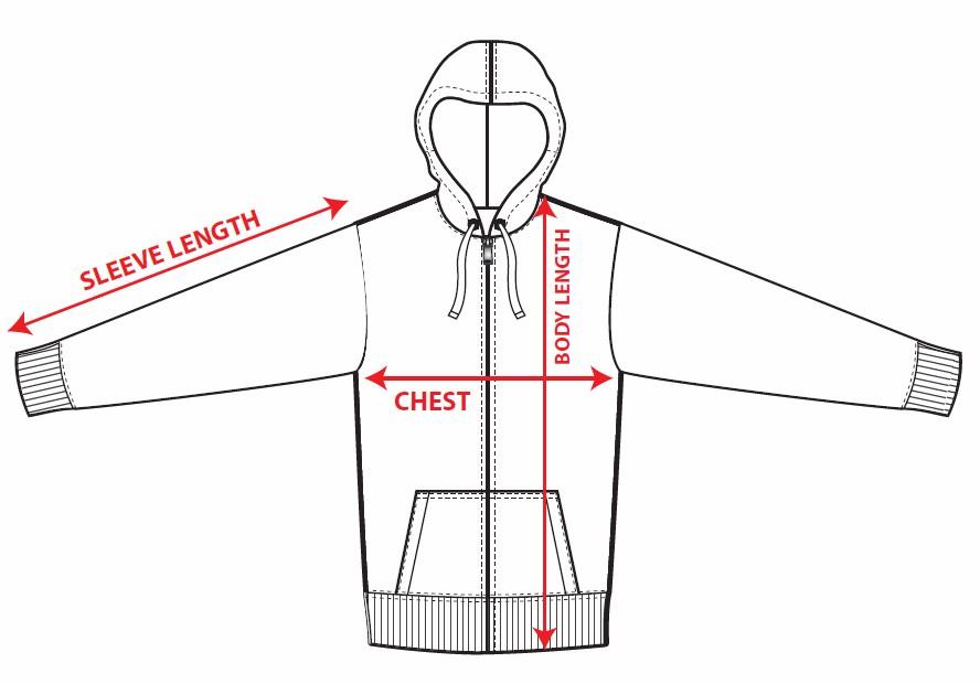 Hoodie-measurement-guide