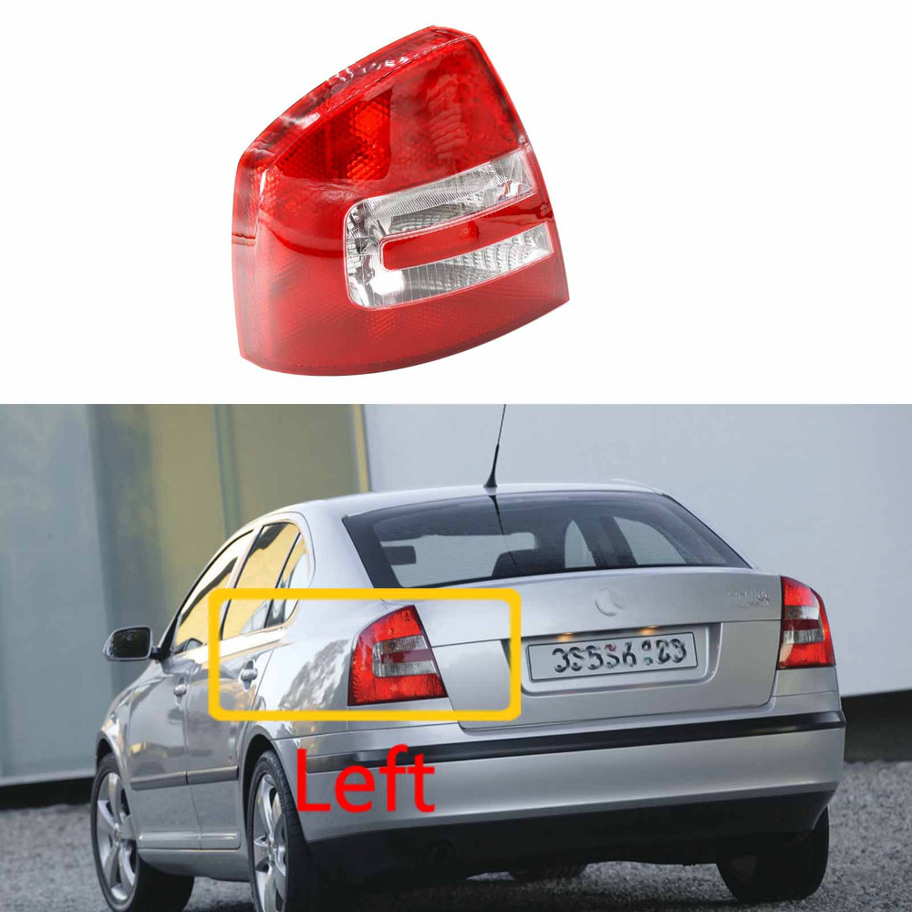 Left Side For Skoda Octavia A5 2004 2005 2006 2007 2008 Car-Styling Rear Tail Light Lamp red left right car rear side tail light brake lamp light for toyota hilux 2005 2006 2007 2008 2009 2010 2015 lh rh