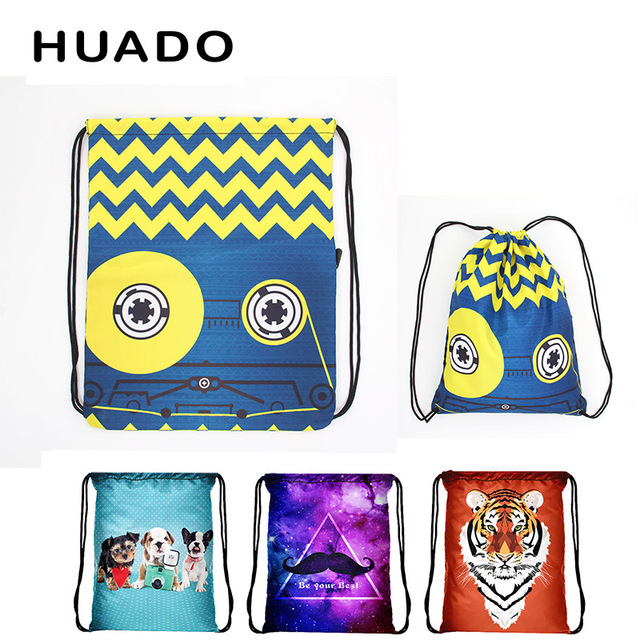 Colorful Drawstring Bag Waterproof Travel Backpack Sport Gym Bag Yoga Runner  Daypack Gym Sacks for lady 1341431b72