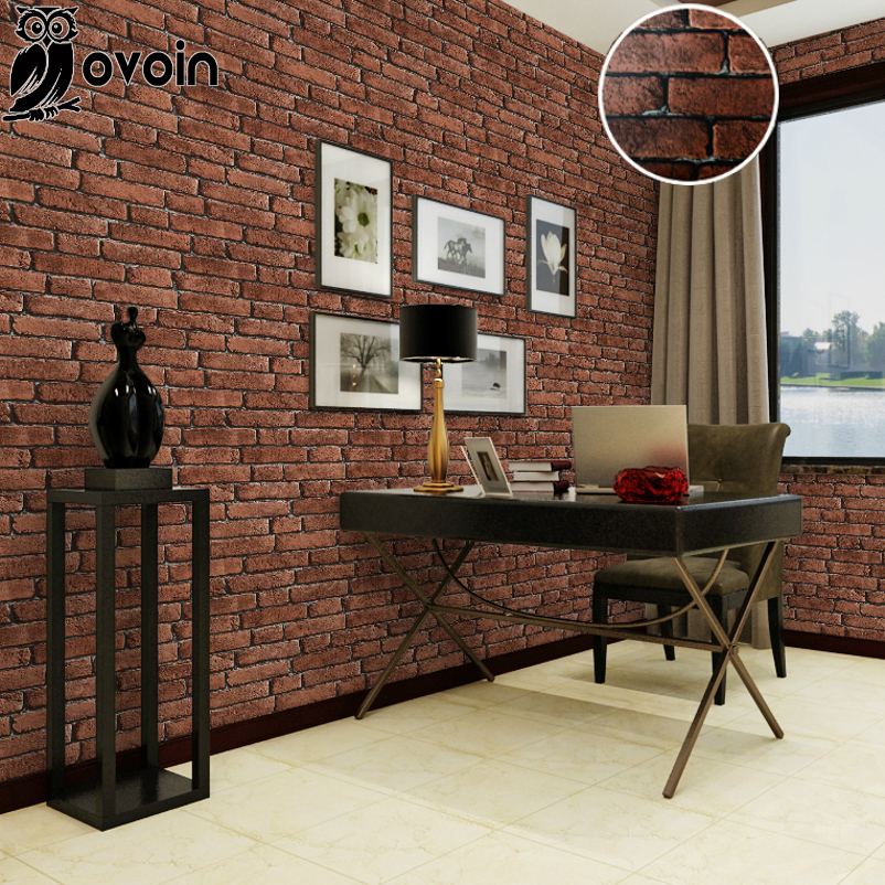 Modern Vintage 3D Rustic Brick Wall Paper Wallpaper Roll Restaurant Bedroom Living Room Backdrop Home Decor In Wallpapers From Improvement On