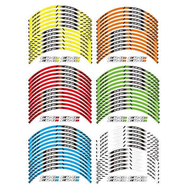12 X Thick Edge Outer Rim Sticker Stripe Wheel Decals FIT ALL kawasaki ER-6N ER6N
