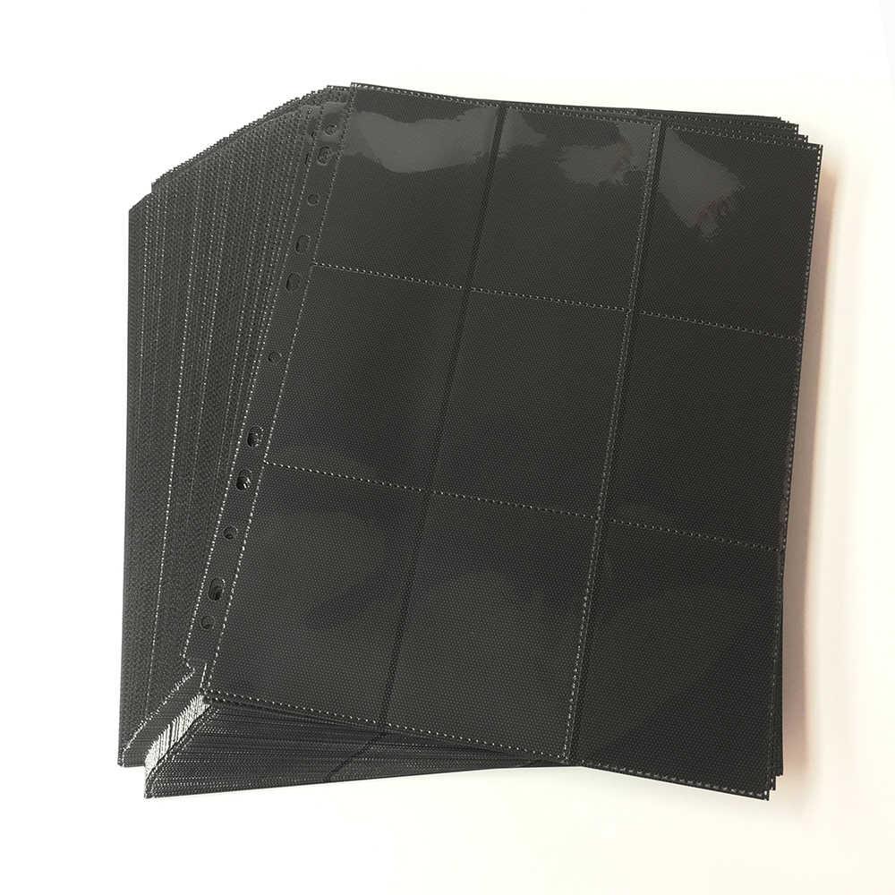 9 Bolsillo Álbum De Cartas Coleccionables sostiene 360 Tarjetas cuero rojo