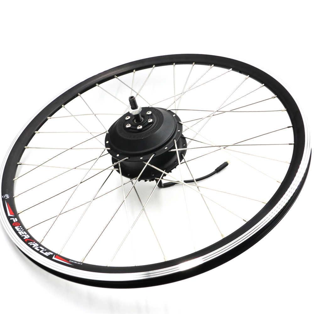 Livraison gratuite Kit de Conversion de vélo électrique 48 V 350 W moyeu Moto E Tricycle Kit de Conversion avant entraînement Ebike moteur de vélo électrique